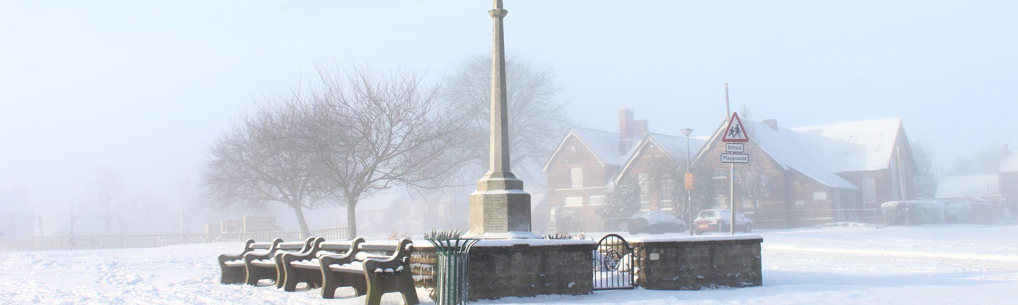 Hutton Cranswick Green in the Winter